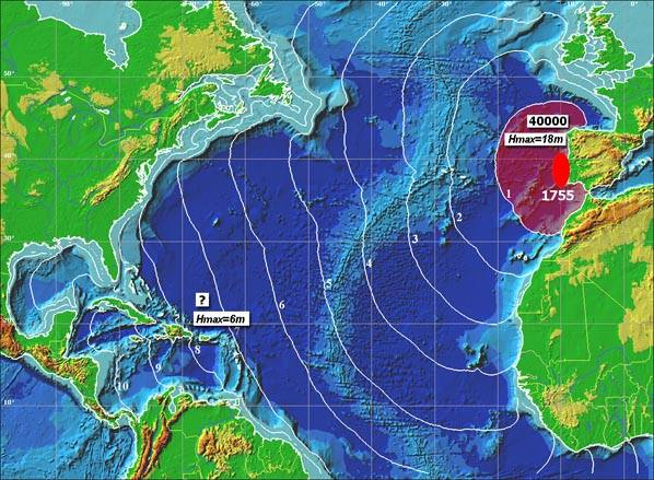 The Tsunami Which Crossed The Atlantic Ocean.