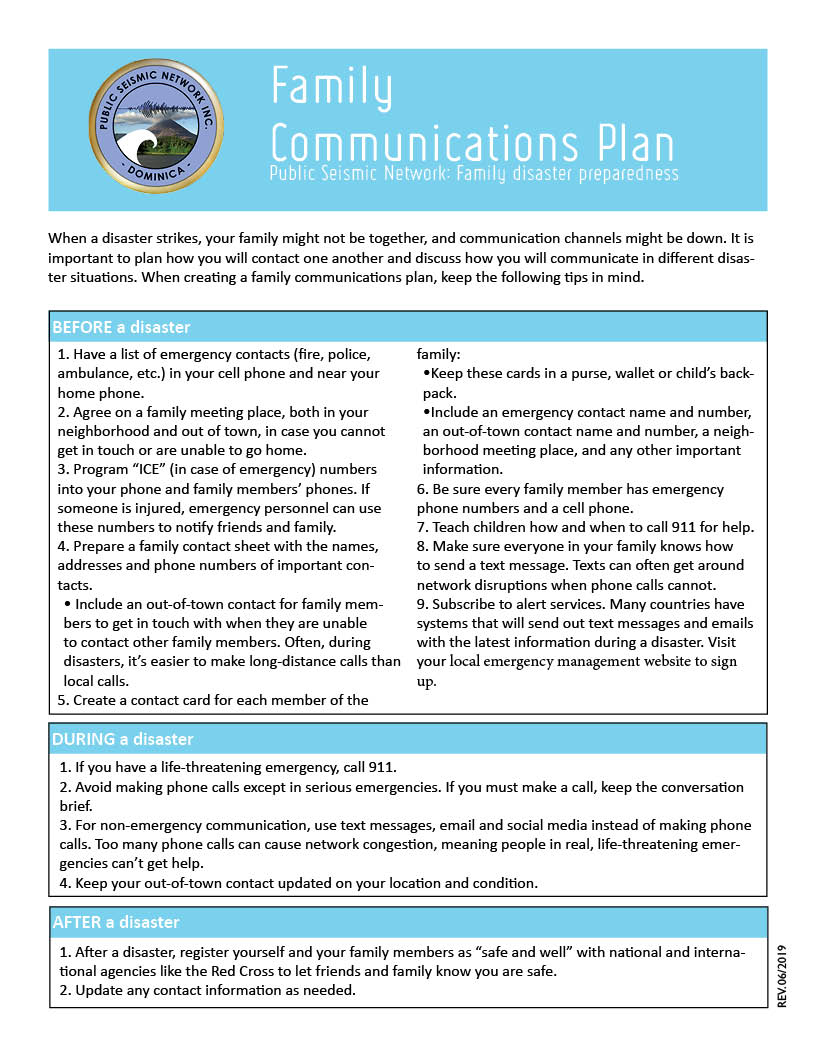 Family Communications Plan low res