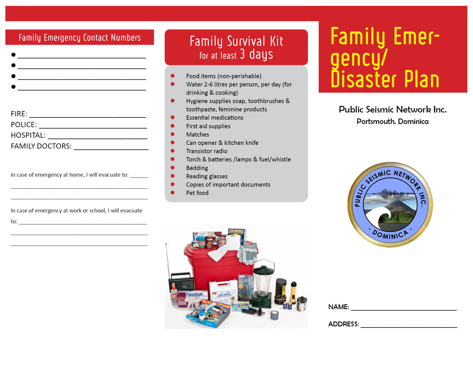 Family Disaster Plan DPSN low res2